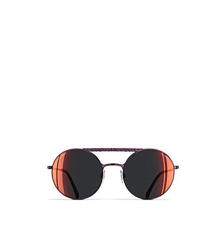 CHANEL Round sunglasses (Bordeaux
