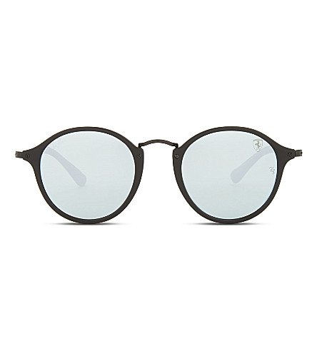 RAY-BAN Rb2447 round-frame sunglasses (Matte+black