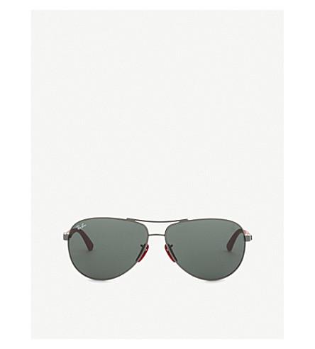 f969cc33ad6 RAY-BAN Scuderia Ferrari 0RB8313M aviator sunglasses (Gunmetal