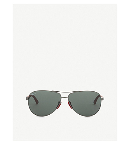 RAY-BAN Scuderia Ferrari 0RB8313M aviator sunglasses (Gunmetal