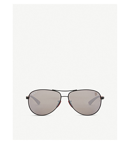 RAY-BAN RB8313M aviator sunglasses (Matte+black