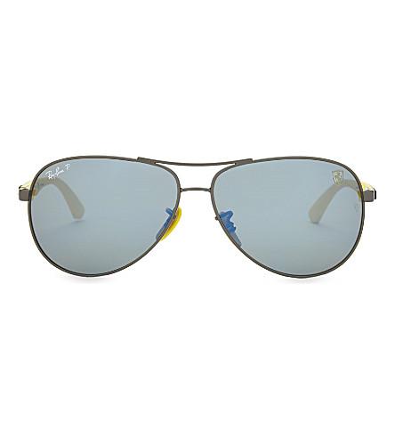 RAY-BAN RB8313M aviator sunglasses (Matte+gunmetal