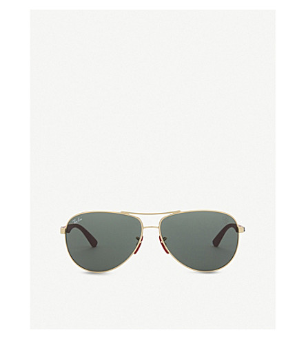 RAY-BAN F00871 aviator-frame sunglasses (Gold