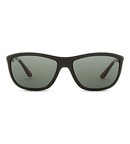 RAY-BAN Rb8351 square-frame sunglasses (Shiny+black