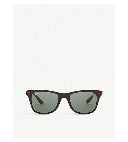 RAY-BAN Rb4195 square-frame sunglasses (Matte+black