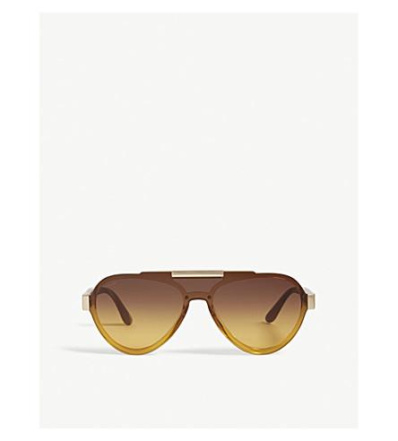 PRADA Pr01Us pilot-frame sunglasses (Yellow
