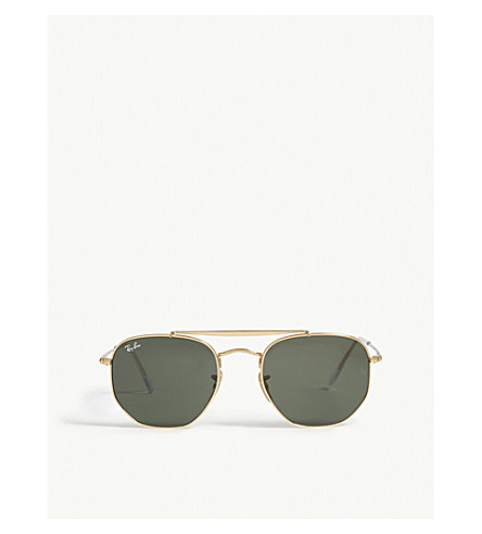 RAY-BAN Marshal Rb3648 hexagonal frame sunglasses (Gold