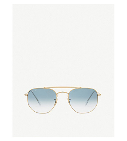 RAY-BAN Rb3648 square-frame sunglasses (Gold