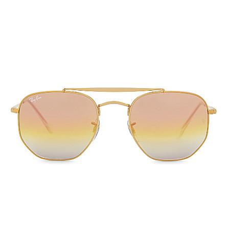 RAY-BAN Rb3648 square-frame sunglasses (Bronze/copper