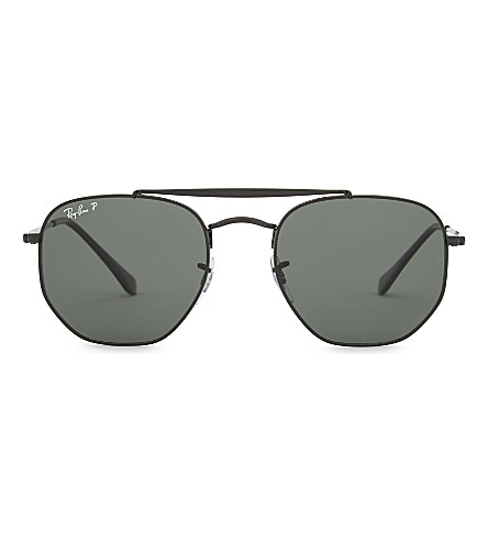 RAY-BAN Rb3648 Hexagonal sunglasses (Black
