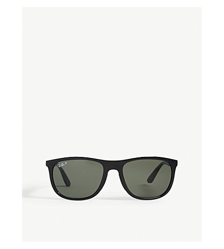 RAY-BAN Rb3716 Clubmaster square-frame sunglasses (Black