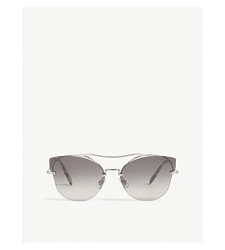 5f3f82cf277 MIU MIU Scenique Mu52S butterfly-frame sunglasses (Silver