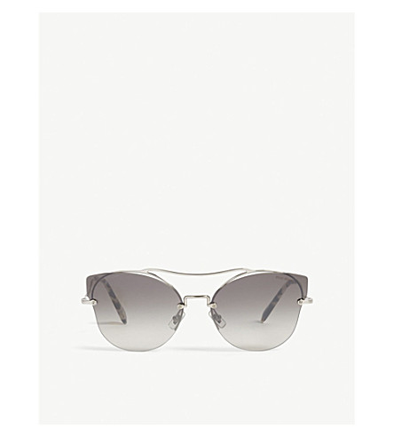 MIU MIU Scenique Mu52S butterfly-frame sunglasses (Silver