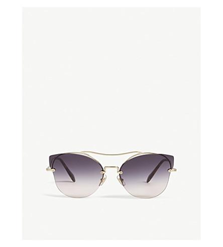 MIU MIU Mu52ss butterfly-frame sunglasses (Gold