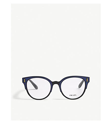 PRADA PR08UV round-frame glasses (Blue