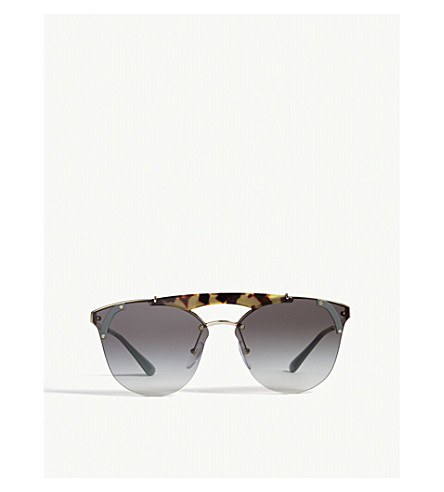 PRADA Pr53us round-frame sunglasses (Havana