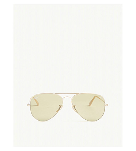 RAY-BAN Aviator metal sunglasses (Gold