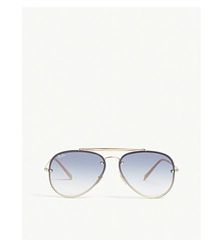 RAY-BAN Rb3584 Blaze aviator sunglasses (Gold