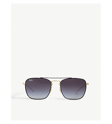 RAY-BAN Rb3588 square-frame sunglasses (Black
