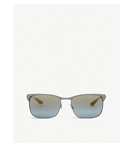 RAY-BAN Rb8319 Chromance rectangle-frame sunglasses (Gunmetal