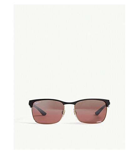 RAY-BAN Rb8319 square-frame sunglasses (Gold