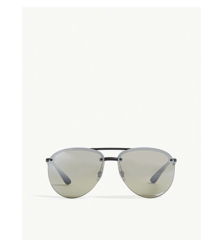 RAY-BAN Rb4293 Chromance aviator-frame sunglasses (Black