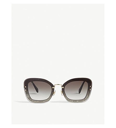 MIU MIU Mu02Ts rectangle-frame sunglasses (Grey