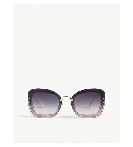 MIU MIU Mu02TS square-frame sunglasses (Violet