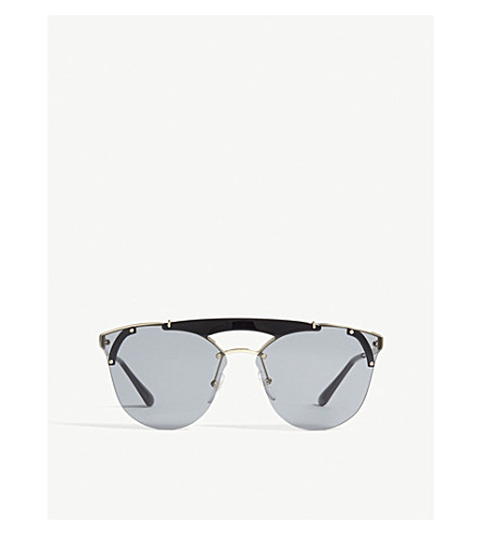 PRADA Pr53us round-frame sunglasses (Black