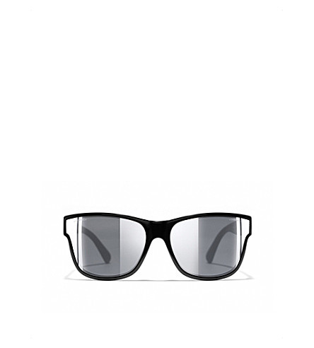 CHANEL Rectangle sunglasses (Black