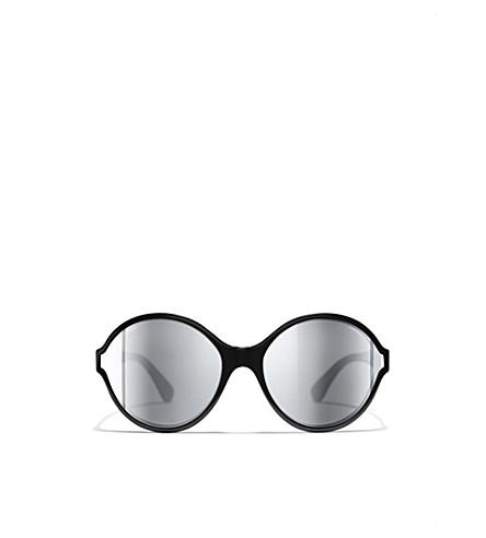 CHANEL Round sunglasses (Black