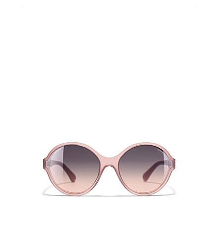 CHANEL Round sunglasses (Milky+brown