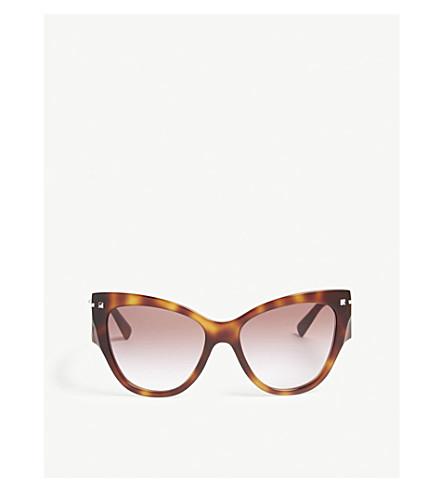 VALENTINO VA4028 cat-eye frame sunglasses (Havana
