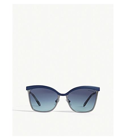 TIFFANY & CO Tf3060 square-frame sunglasses (Blue/gunmetal