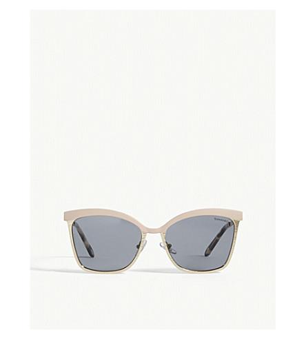 TIFFANY & CO Tf3060 square-frame sunglasses (Nude/pale+gold