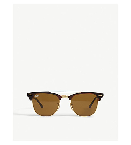 RAY-BAN Clubmaster square-frame sunglasses (Havana