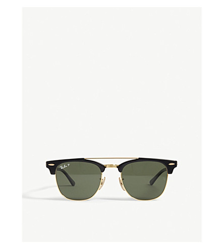 RAY-BAN Clubmaster square-frame sunglasses (Black