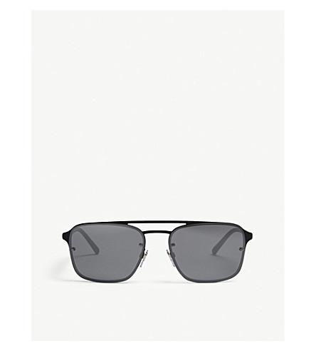 BURBERRY BE3095 square-frame sunglasses (Black