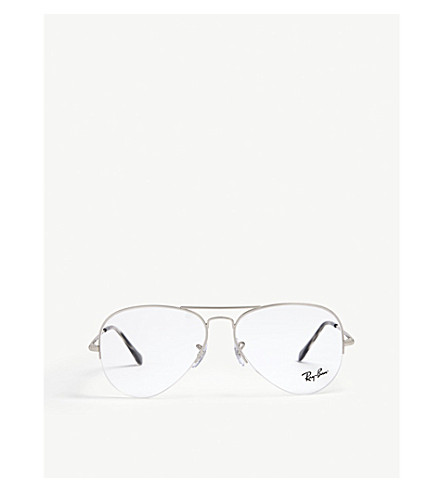 RAY-BAN Rx6589 aviator glasses (Silver