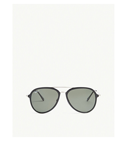 RAY-BAN RB4298 pilot-frame sunglasses (Black