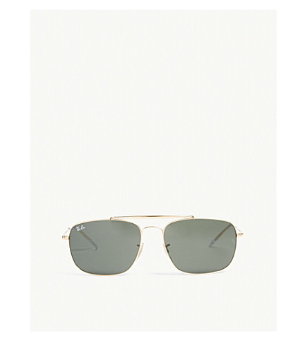 RAY-BAN Colonel square-frame sunglasses (Gold