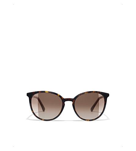 CHANEL Butterfly sunglasses (Dark+havana