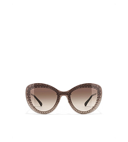 CHANEL Butterfly sunglasses (Silver