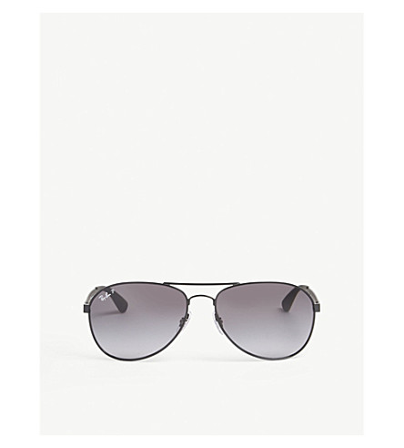 RAY-BAN RB3549 pilot-frame sunglasses (Black
