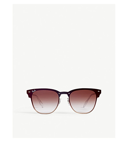RAY-BAN Clubmaster square-frame sunglasses (Bronze