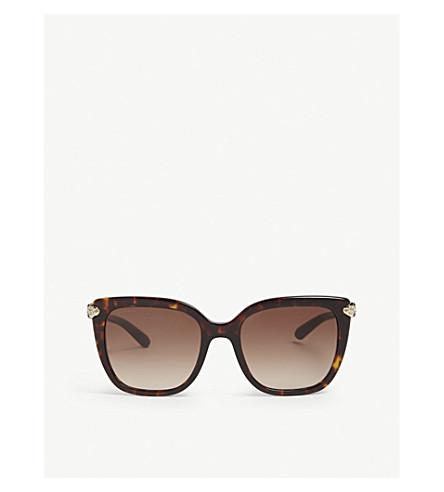 BVLGARI Bv8207 square-frame sunglasses (Havana