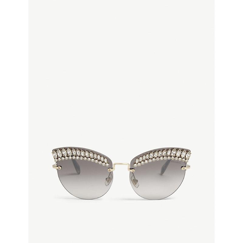MIU MIU SMU58T frameless cat-eye sunglasses