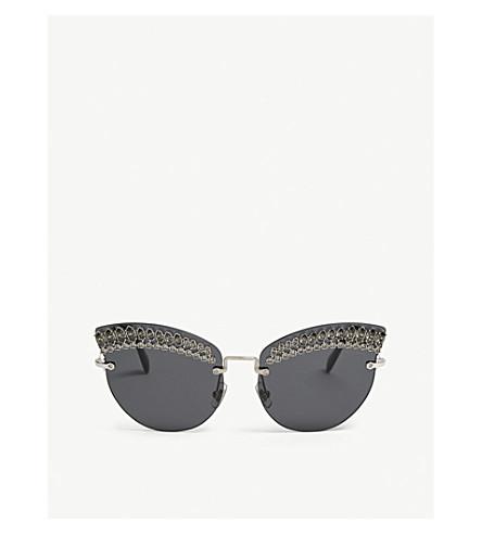 MIU MIU SMU58T frameless cat-eye sunglasses (Silver