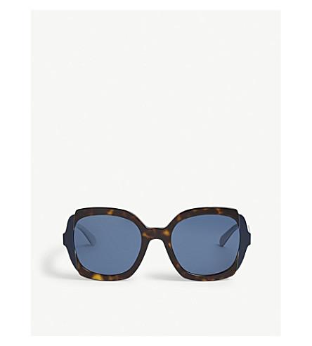 PRADA PR16US square Havana sunglasses (Havana