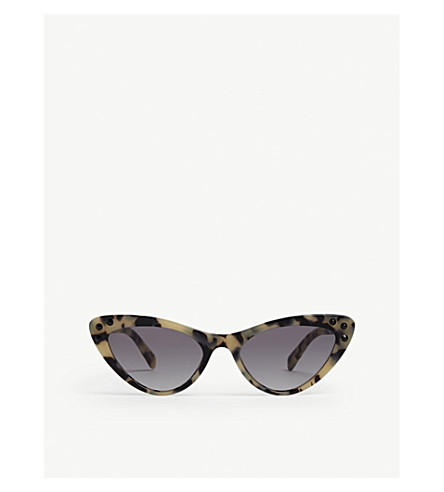 MIU MIU 0Mu 05Ts cat-eye sunglasses (Brown